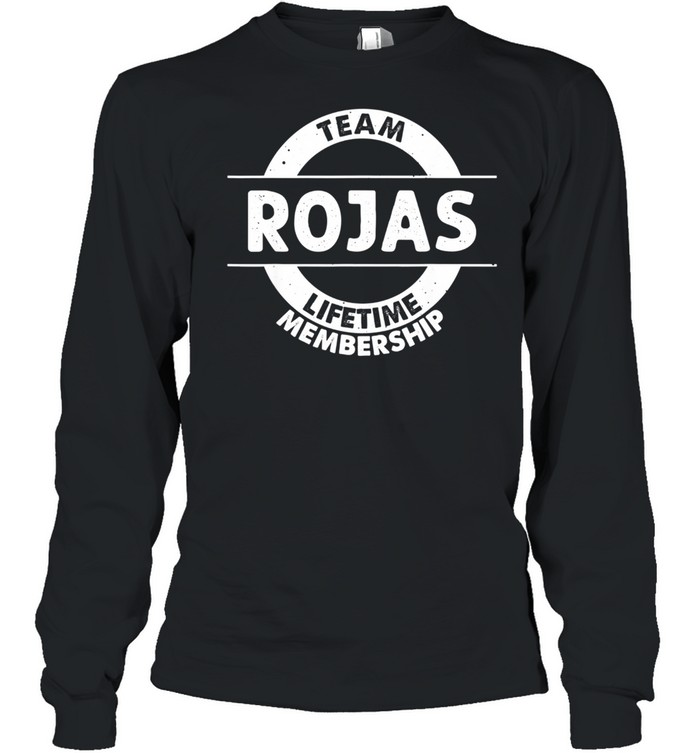 ROJAS Surname Family Tree Birthday Reunion Idea shirt Long Sleeved T-shirt