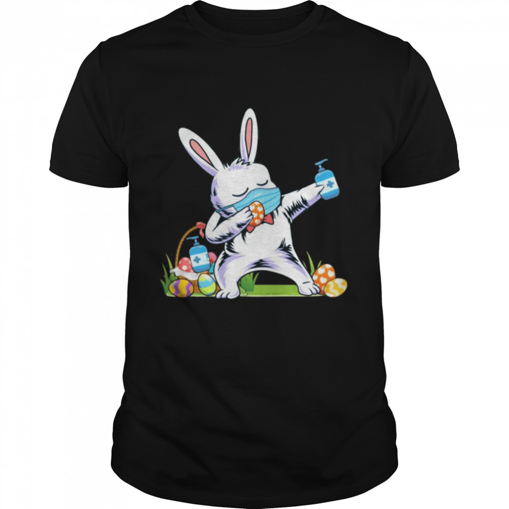 2021 dabbing easter bunny wearing mask shirt Classic Men's T-shirt