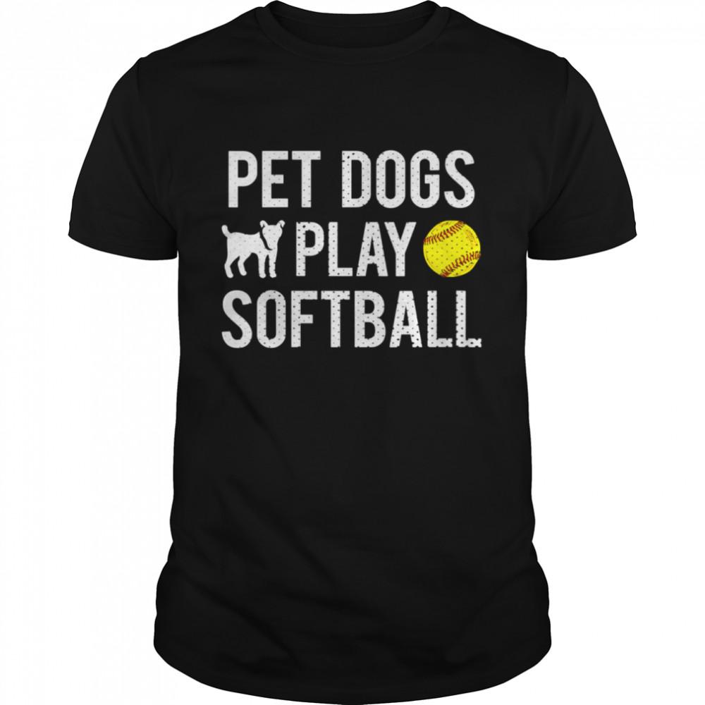 Fastpitch Softball Dogs shirt Classic Men's T-shirt