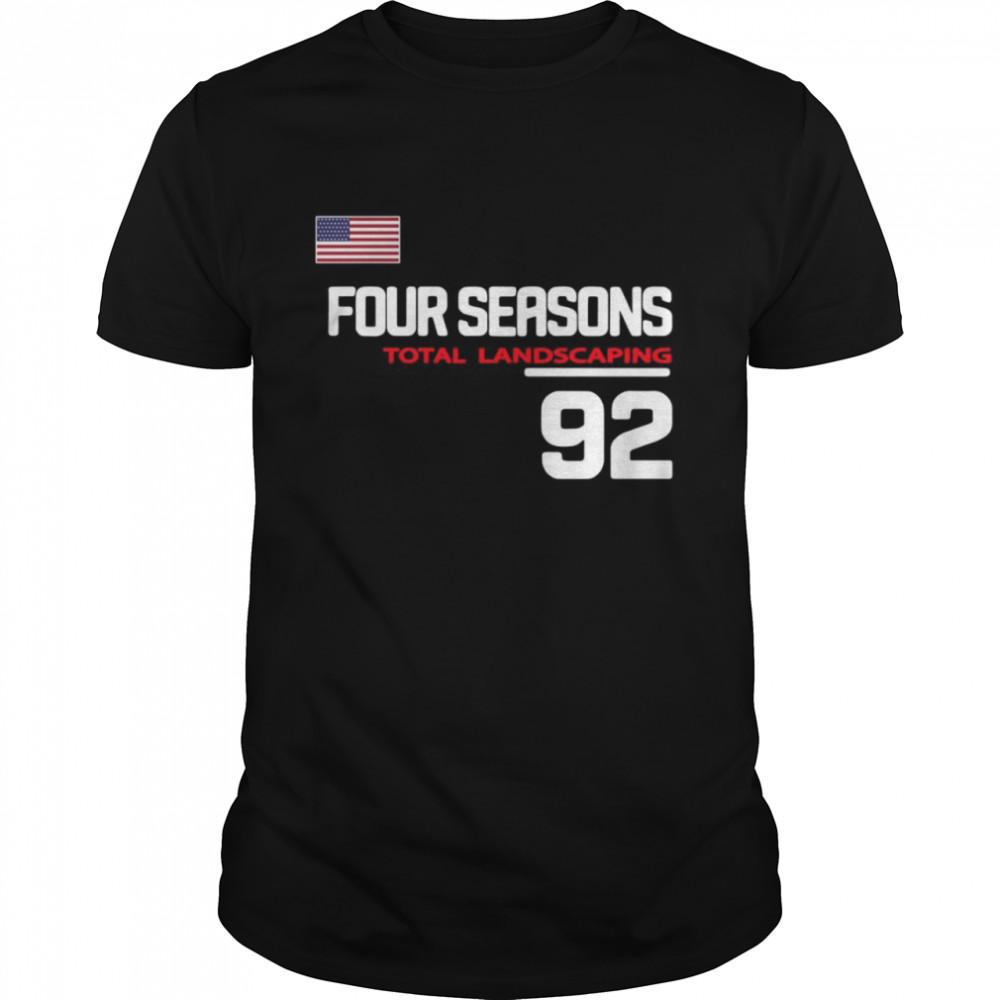 Four Seasons Total Landscaping 92 American Flag  Classic Men's T-shirt