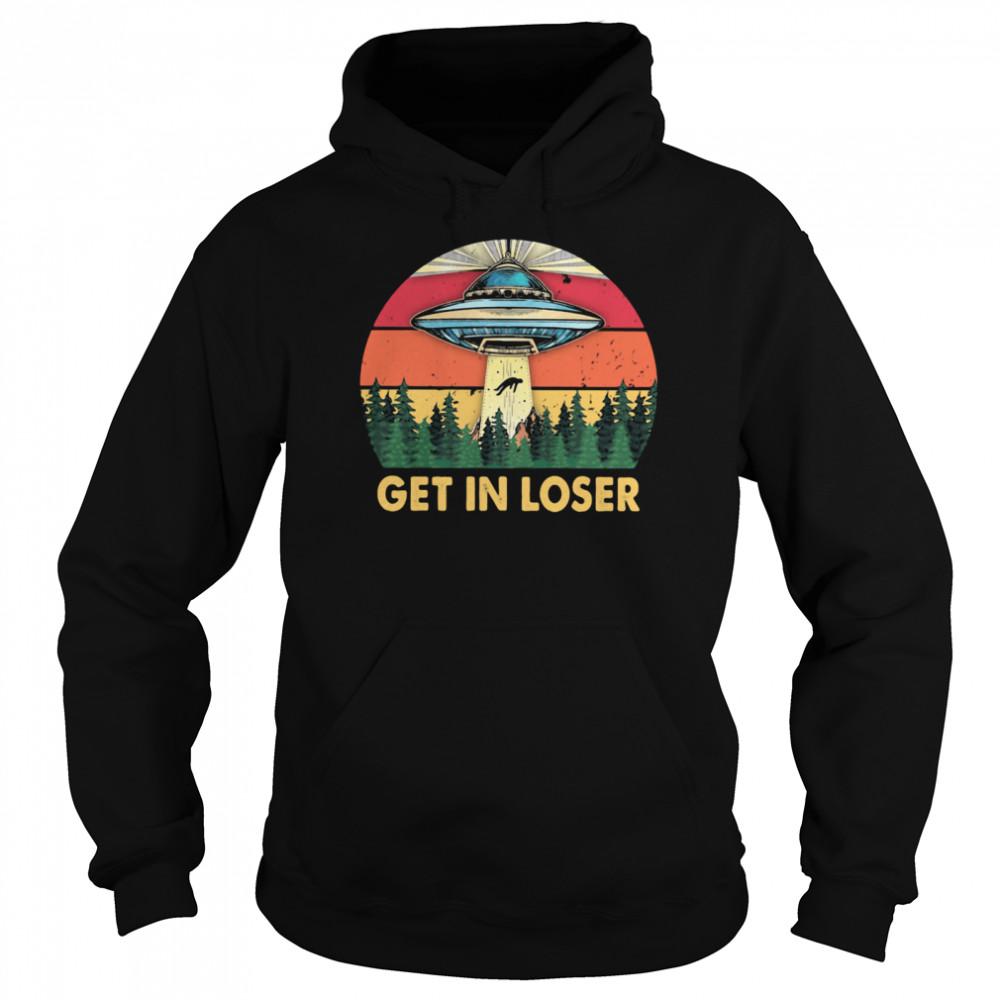 Get In Loser UFO Vintage Unisex Hoodie