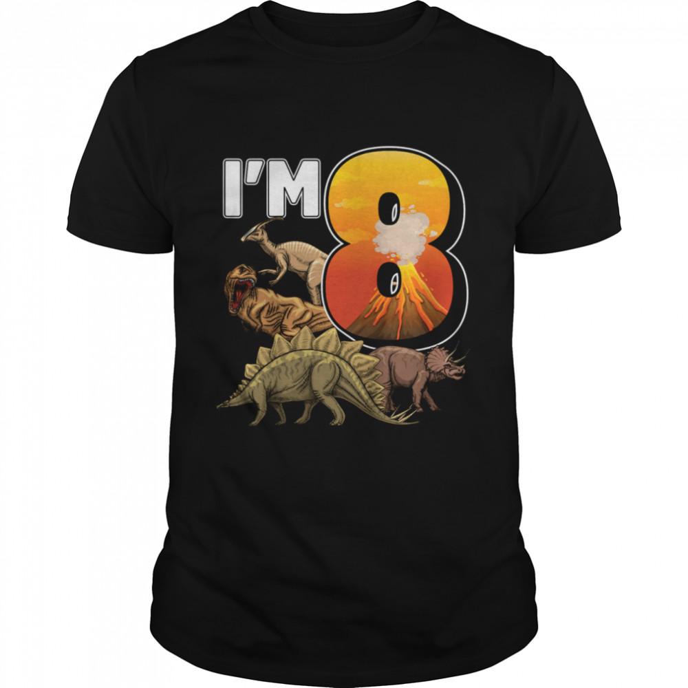 I'm 8 Year Old dinosaurs paleontologist Boys  Classic Men's T-shirt