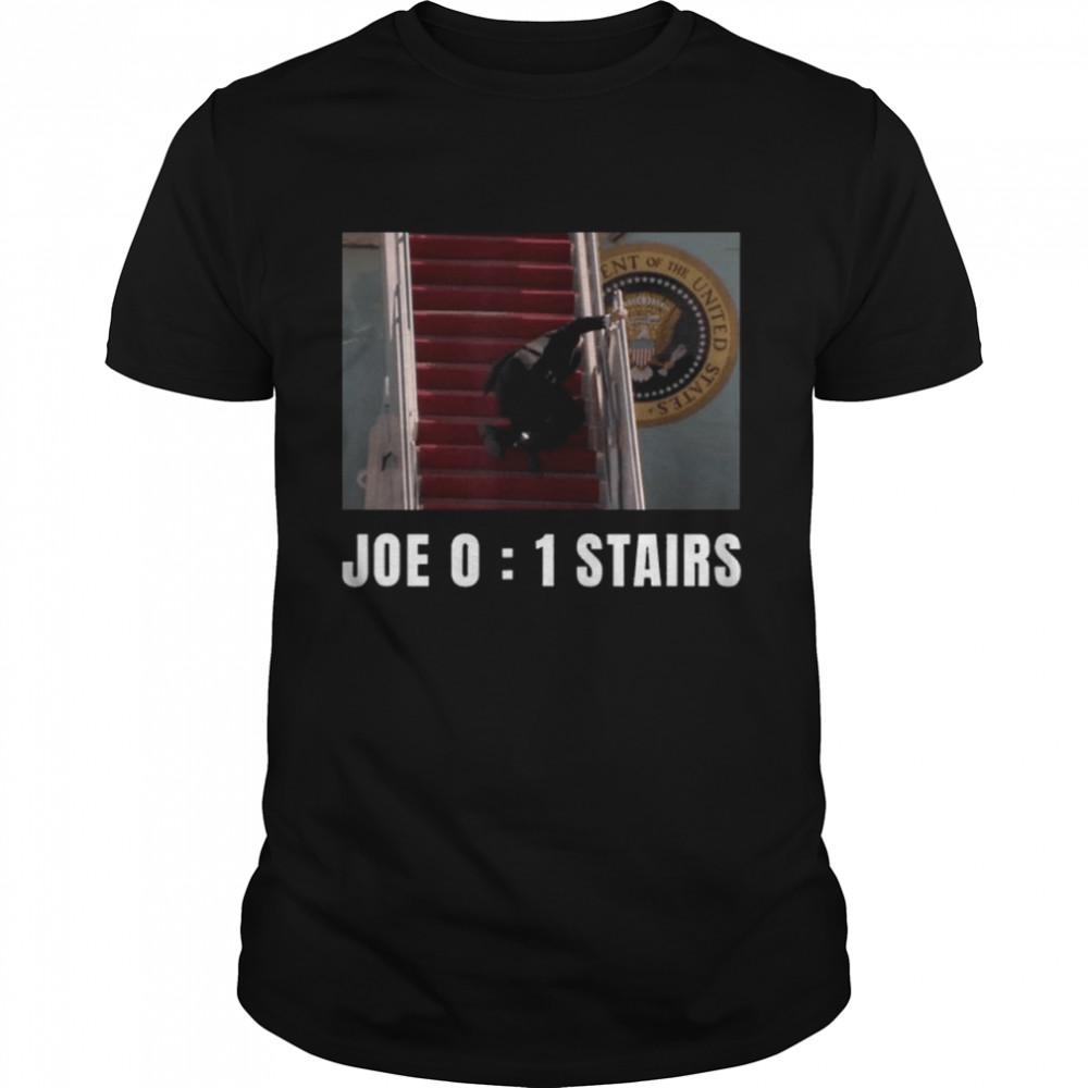 Joe Biden Falling Down Stairs Joe Vs Stairs shirt Classic Men's T-shirt
