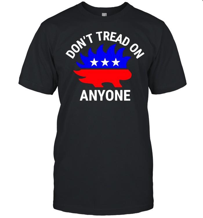 Libertarian Porcupine don't tread on anyone shirt Classic Men's T-shirt