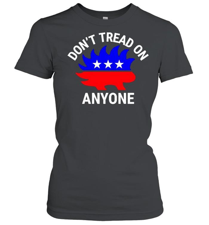 Libertarian Porcupine don't tread on anyone shirt Classic Women's T-shirt