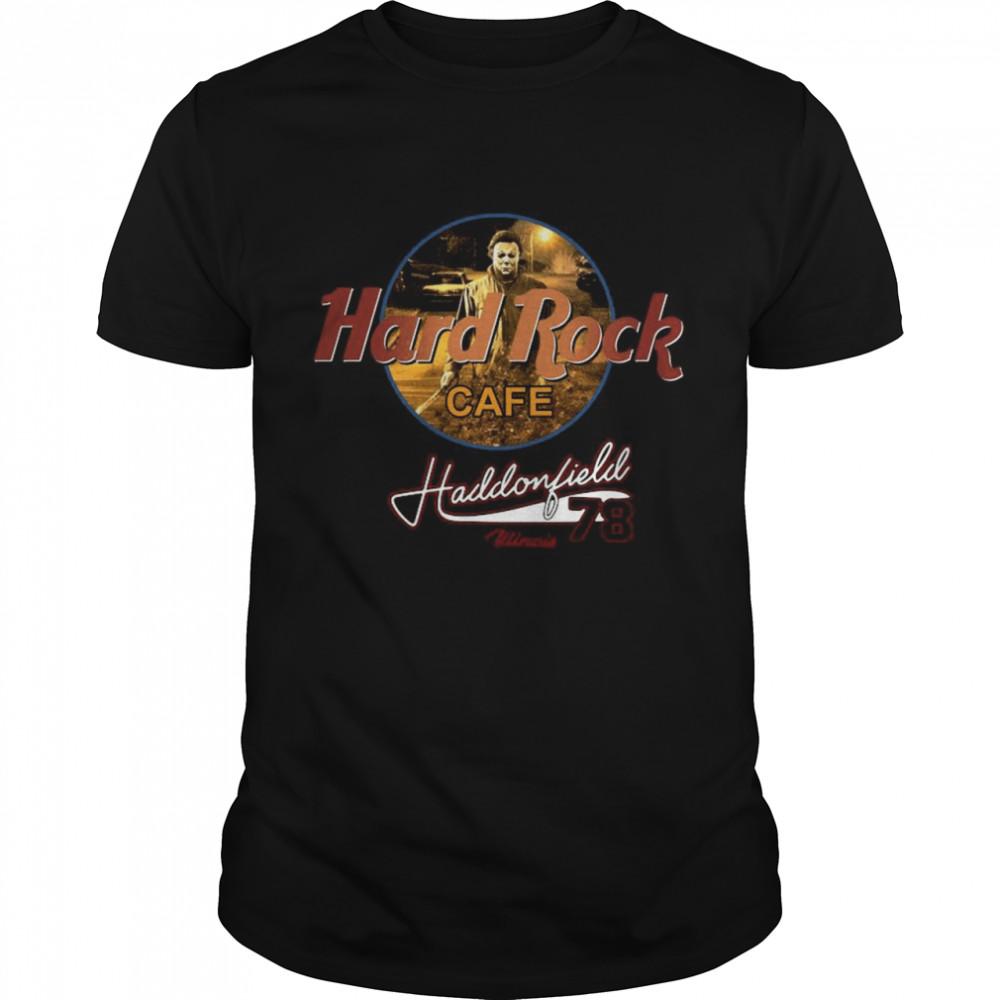 Michael Myers Hard Rock Cafe Haddonfield Winois 78  Classic Men's T-shirt