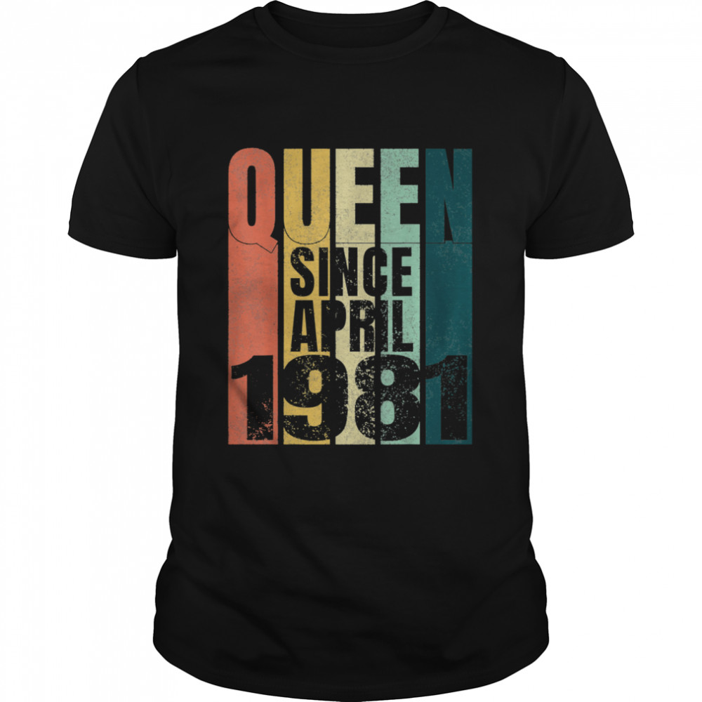 Queen Since April 1981 shirt Classic Men's T-shirt