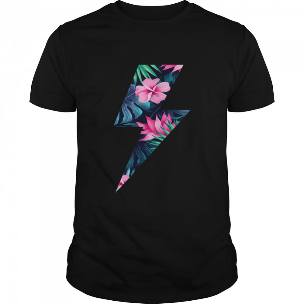 Tropical Lightning Bolt  Classic Men's T-shirt
