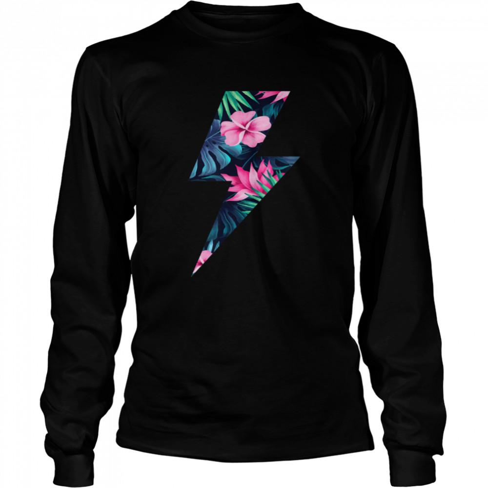 Tropical Lightning Bolt  Long Sleeved T-shirt