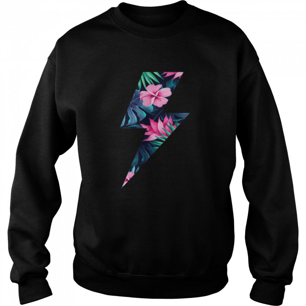 Tropical Lightning Bolt  Unisex Sweatshirt