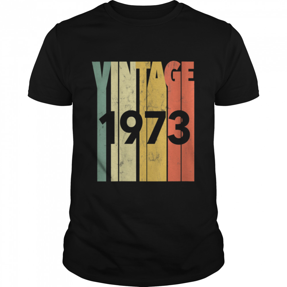 Vintage Retro Made In 1973 Classic 48th Birthday  Classic Men's T-shirt