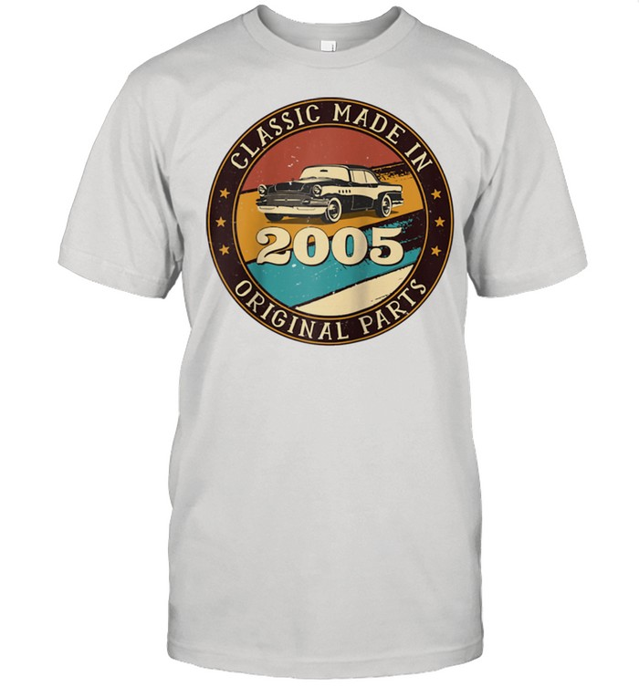 16 Years Old Classic Retro Car Made In 2005 16th Birthday  Classic Men's T-shirt