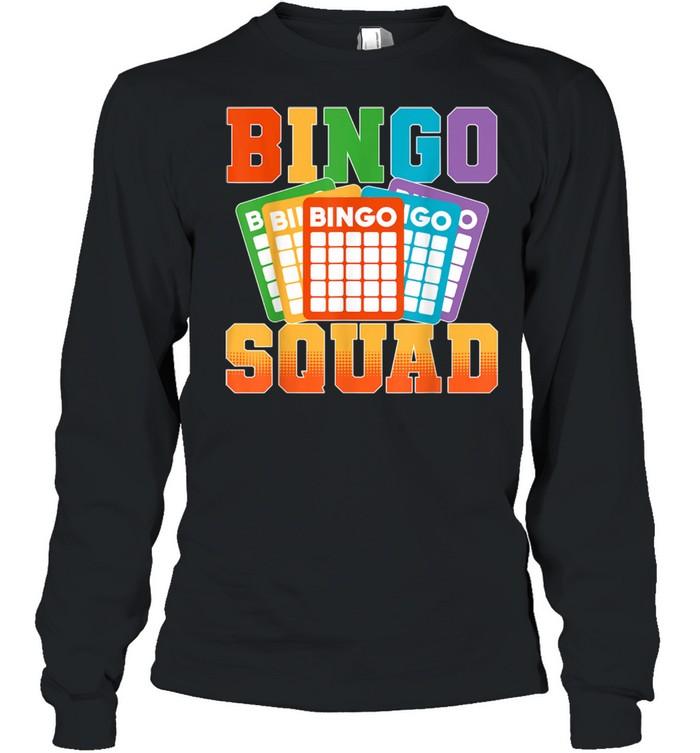 Bingo Squad Lucky Bingo Player shirt Long Sleeved T-shirt