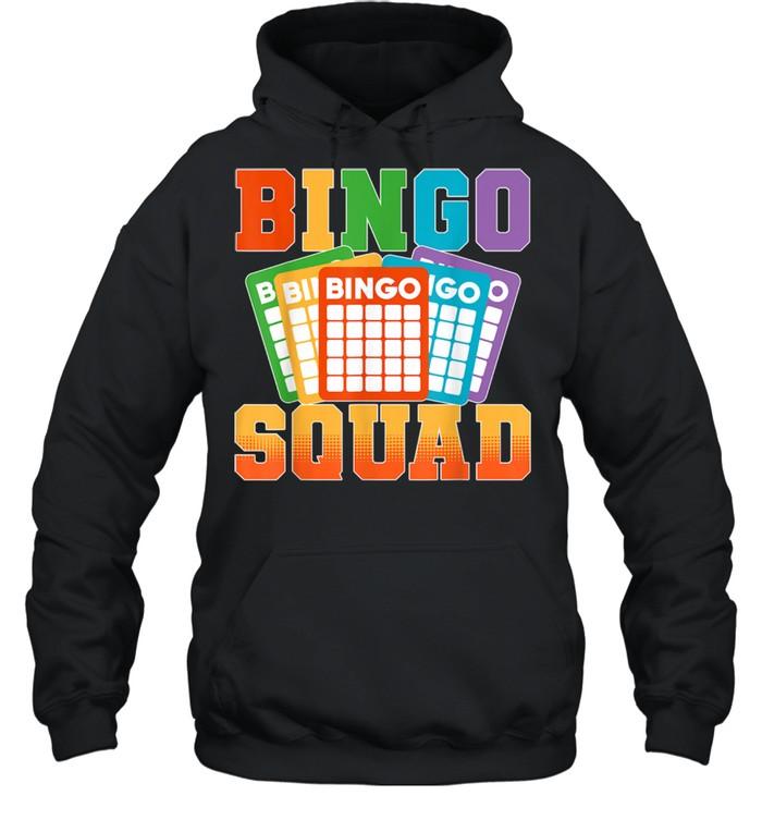 Bingo Squad Lucky Bingo Player shirt Unisex Hoodie
