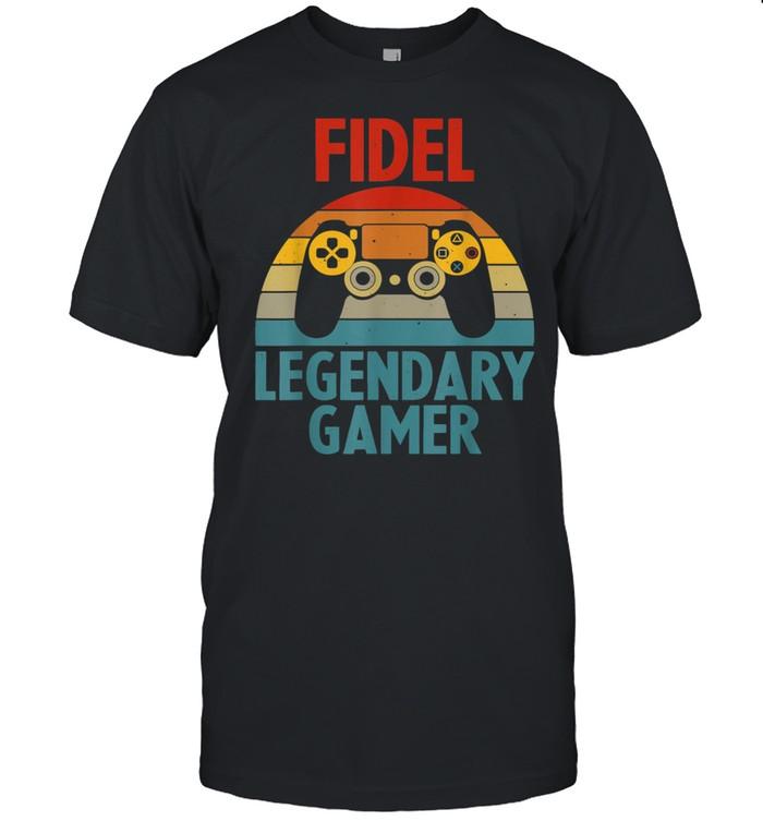 FIDEL Name Personalized Gaming Geek Birthday shirt Classic Men's T-shirt