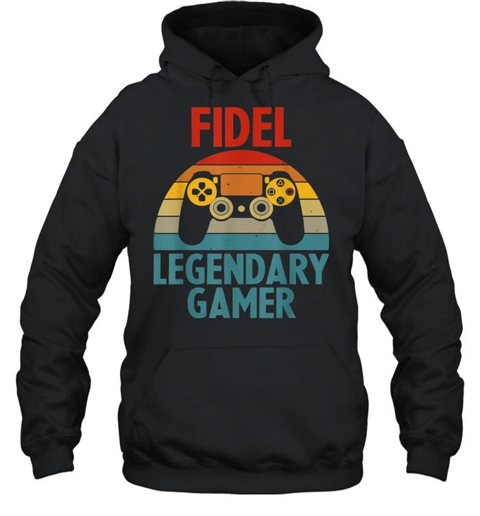FIDEL Name Personalized Gaming Geek Birthday shirt Unisex Hoodie