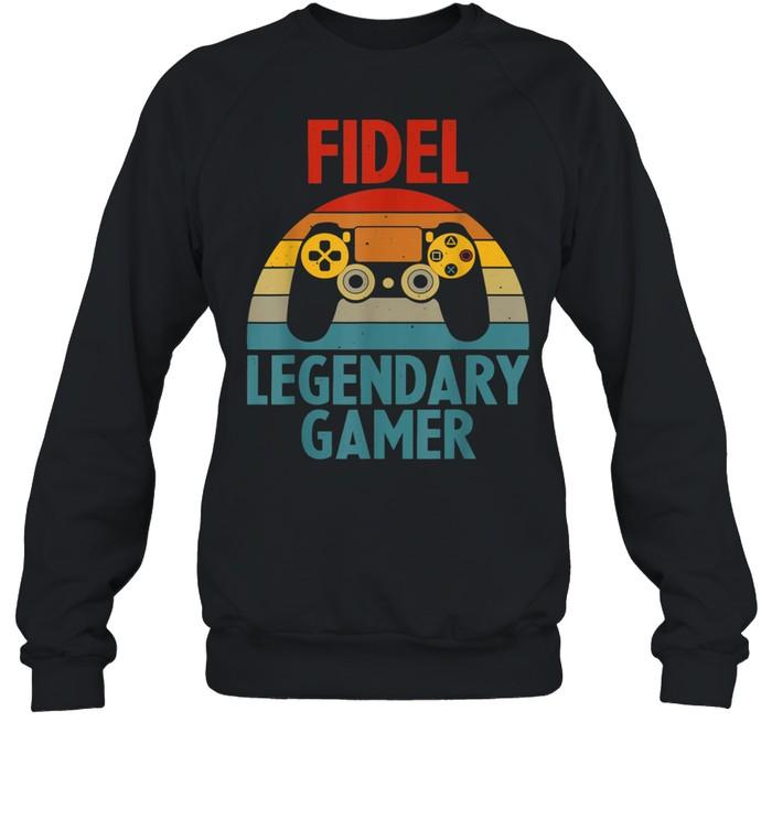 FIDEL Name Personalized Gaming Geek Birthday shirt Unisex Sweatshirt