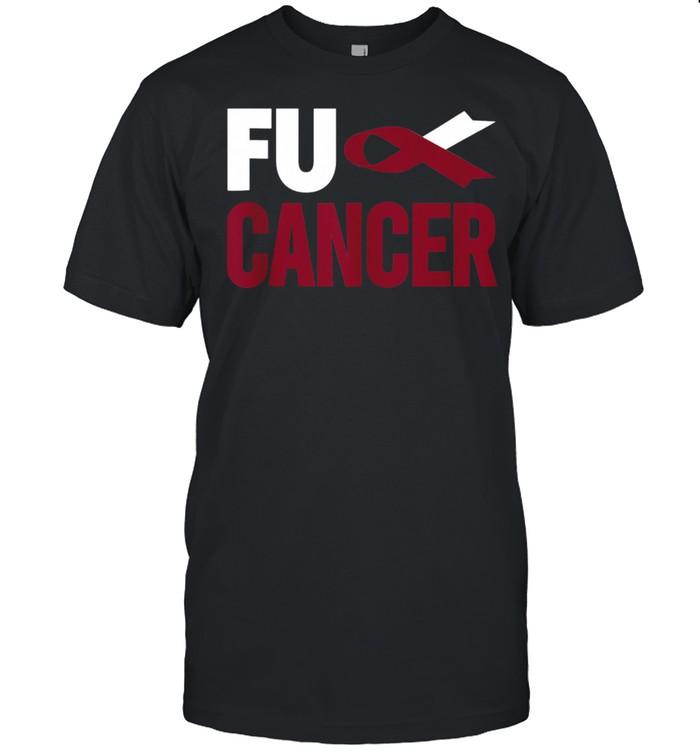 Fu Cancer Throat Cancer Fu Oral Head Neck Cancer  Classic Men's T-shirt