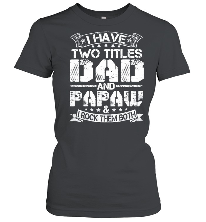 I Have Two Titles Dad And Papaw Fathers Day shirt Classic Women's T-shirt