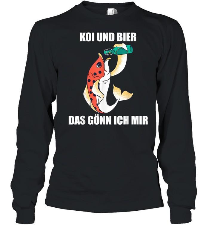 Koi Karpfen Gartenteich und Bier das gönn ich mir  Long Sleeved T-shirt