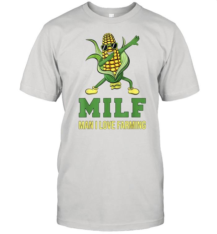 Man I Love Farming Dabbing Corn Cob  Classic Men's T-shirt