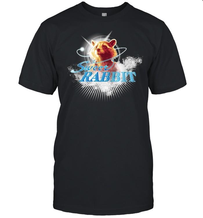 Marvel Guardians Rocket Raccoon Sweet Rabbit T-shirt Classic Men's T-shirt