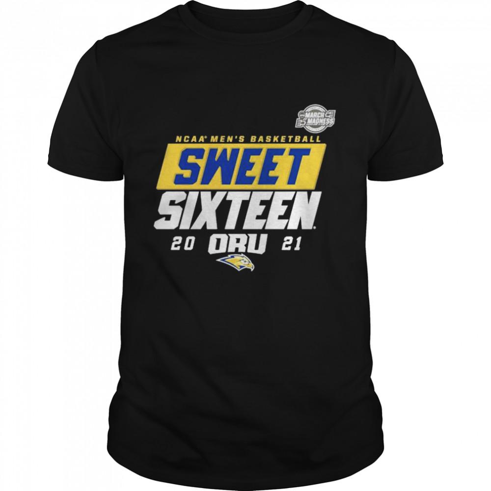 Oral Roberts Golden Eagles NCAA mens basketball sweet sixteen 2021 shirt Classic Men's T-shirt