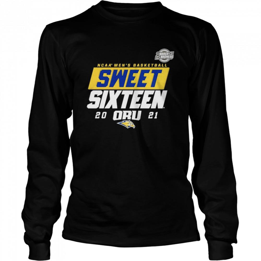 Oral Roberts Golden Eagles NCAA mens basketball sweet sixteen 2021 shirt Long Sleeved T-shirt