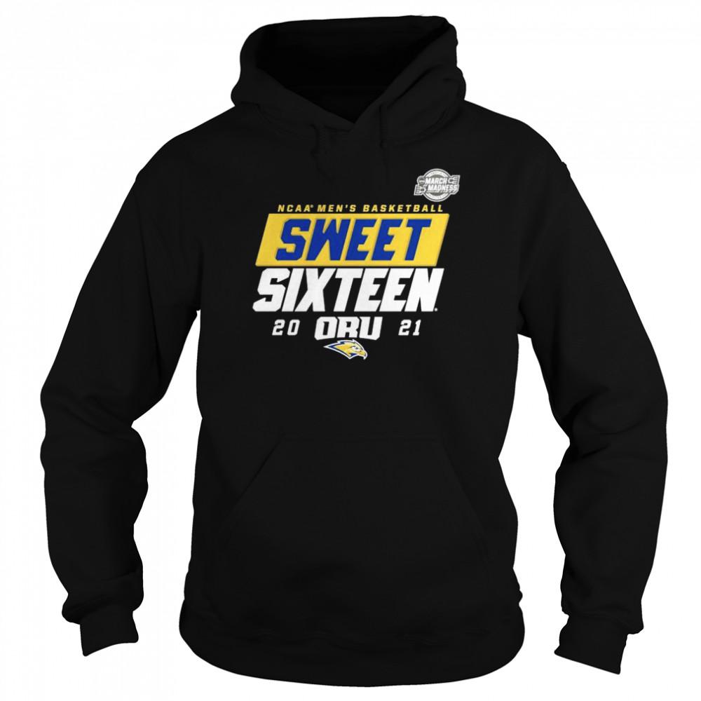 Oral Roberts Golden Eagles NCAA mens basketball sweet sixteen 2021 shirt Unisex Hoodie