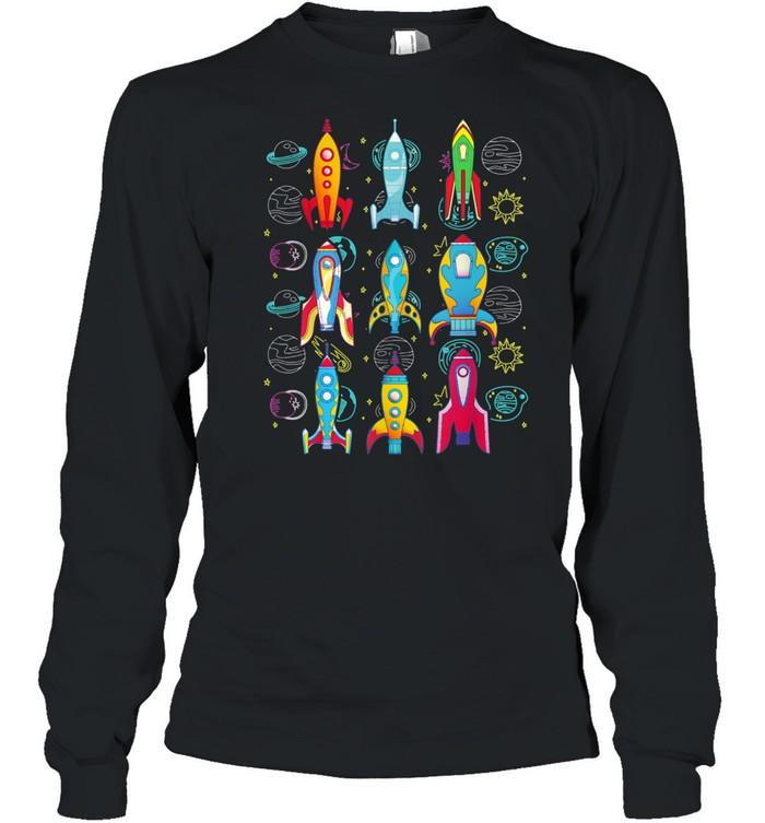 Rakete Weltraum Planeten Zukünftiger Astronaut shirt Long Sleeved T-shirt