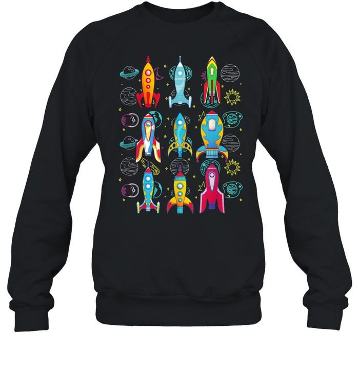 Rakete Weltraum Planeten Zukünftiger Astronaut shirt Unisex Sweatshirt