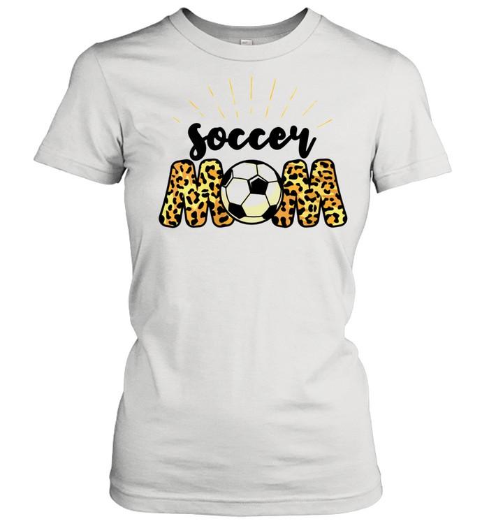 Soccer Mom Leopard Soccer Mom Mother's Day 2021  Classic Women's T-shirt