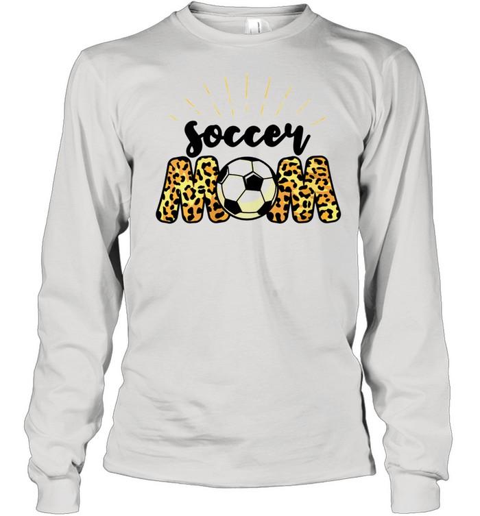 Soccer Mom Leopard Soccer Mom Mother's Day 2021  Long Sleeved T-shirt