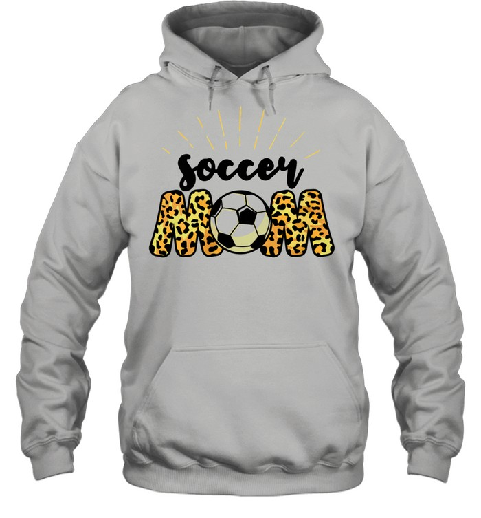 Soccer Mom Leopard Soccer Mom Mother's Day 2021  Unisex Hoodie