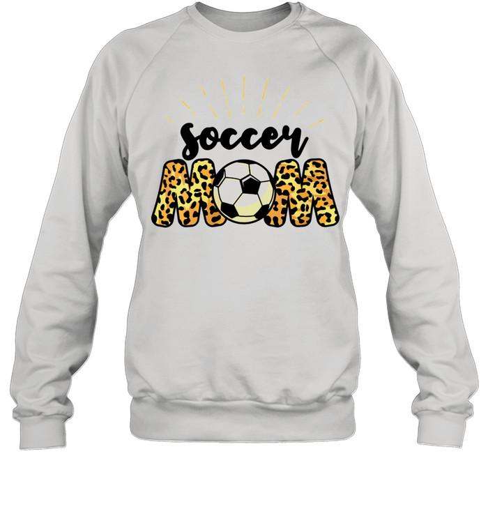 Soccer Mom Leopard Soccer Mom Mother's Day 2021  Unisex Sweatshirt