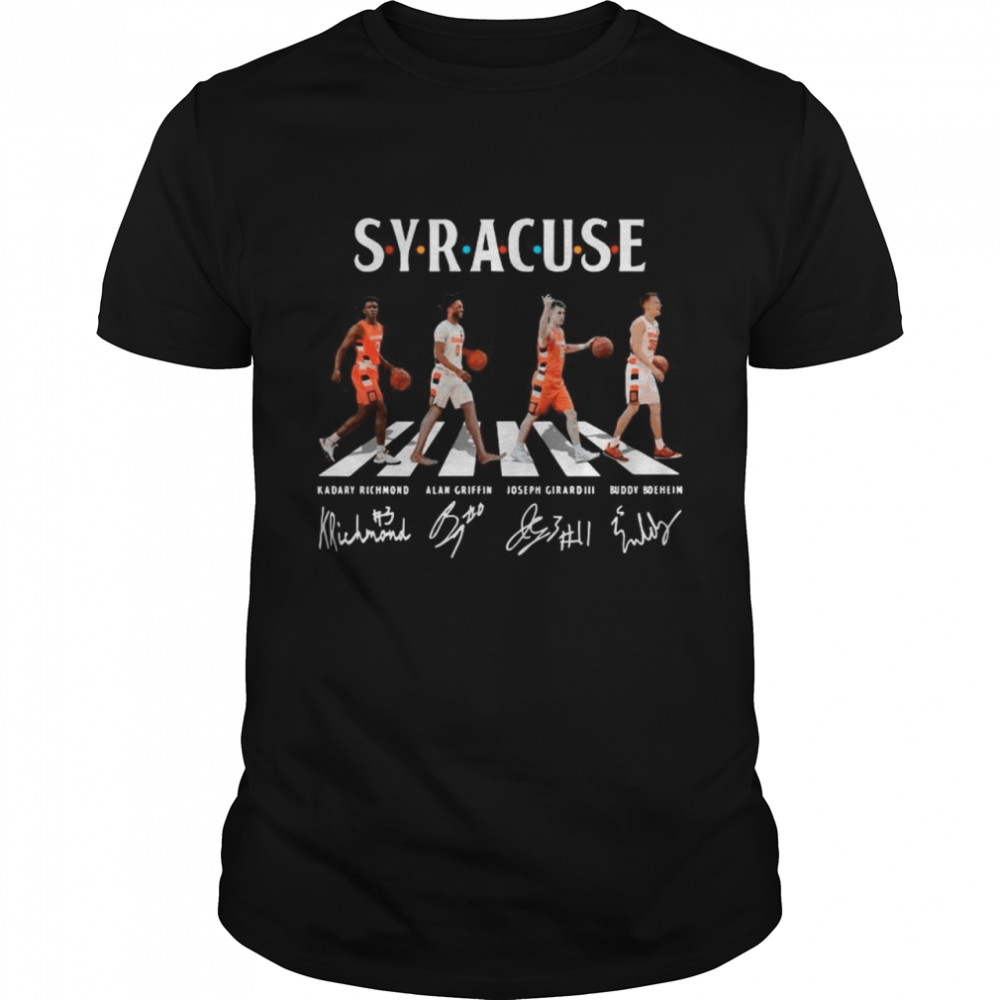 The Syracuse Basketball Team With Girard 3 Boeheim Griffin And Richmond Abbey Road Signatures shirt Classic Men's T-shirt