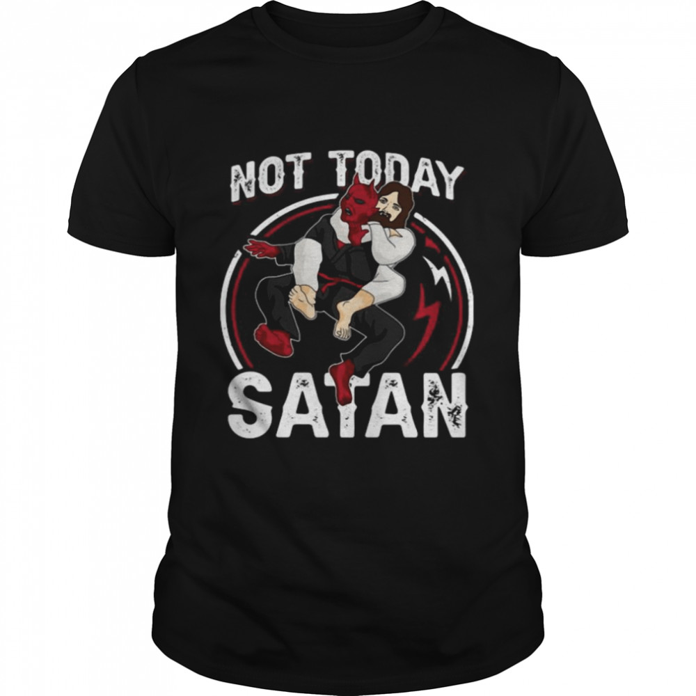 Jesus Not Today Satan  Classic Men's T-shirt
