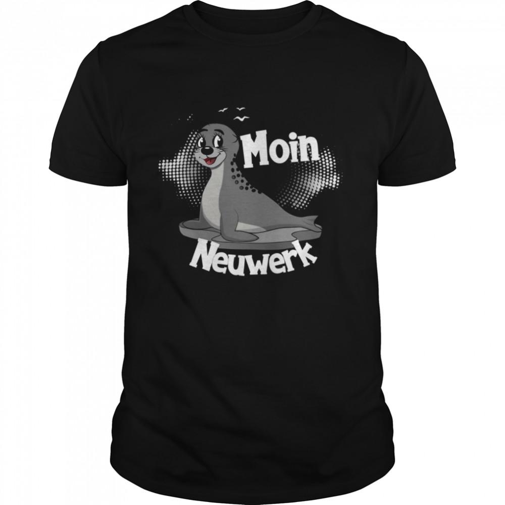Moin Neuwerk mit Seehund für Strandurlaub an Küste und Meer  Classic Men's T-shirt