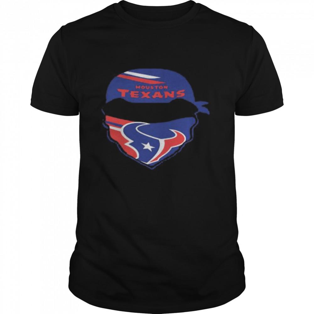 Skull Wear Mask Houston Texans  Classic Men's T-shirt