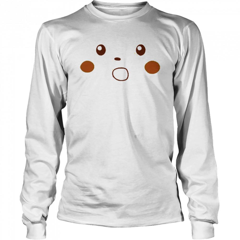 Surprised pikachu shirt Long Sleeved T-shirt