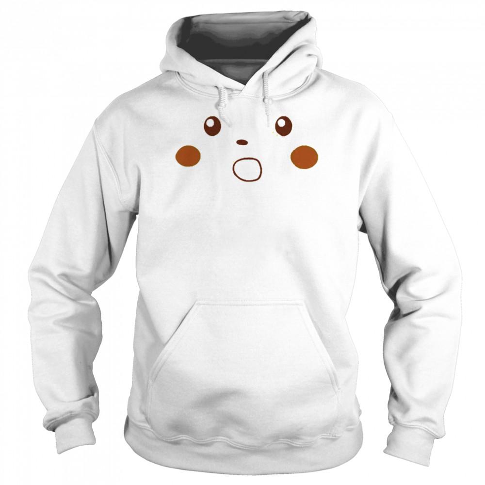 Surprised pikachu shirt Unisex Hoodie