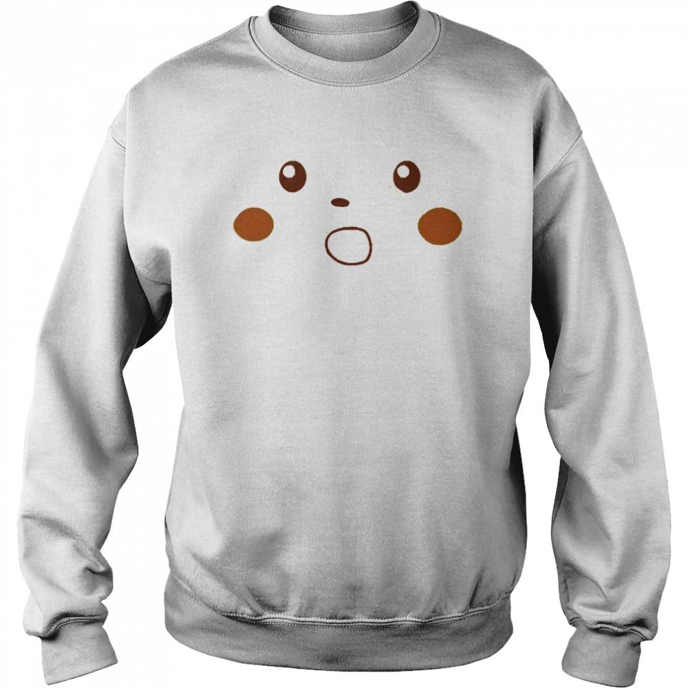 Surprised pikachu shirt Unisex Sweatshirt