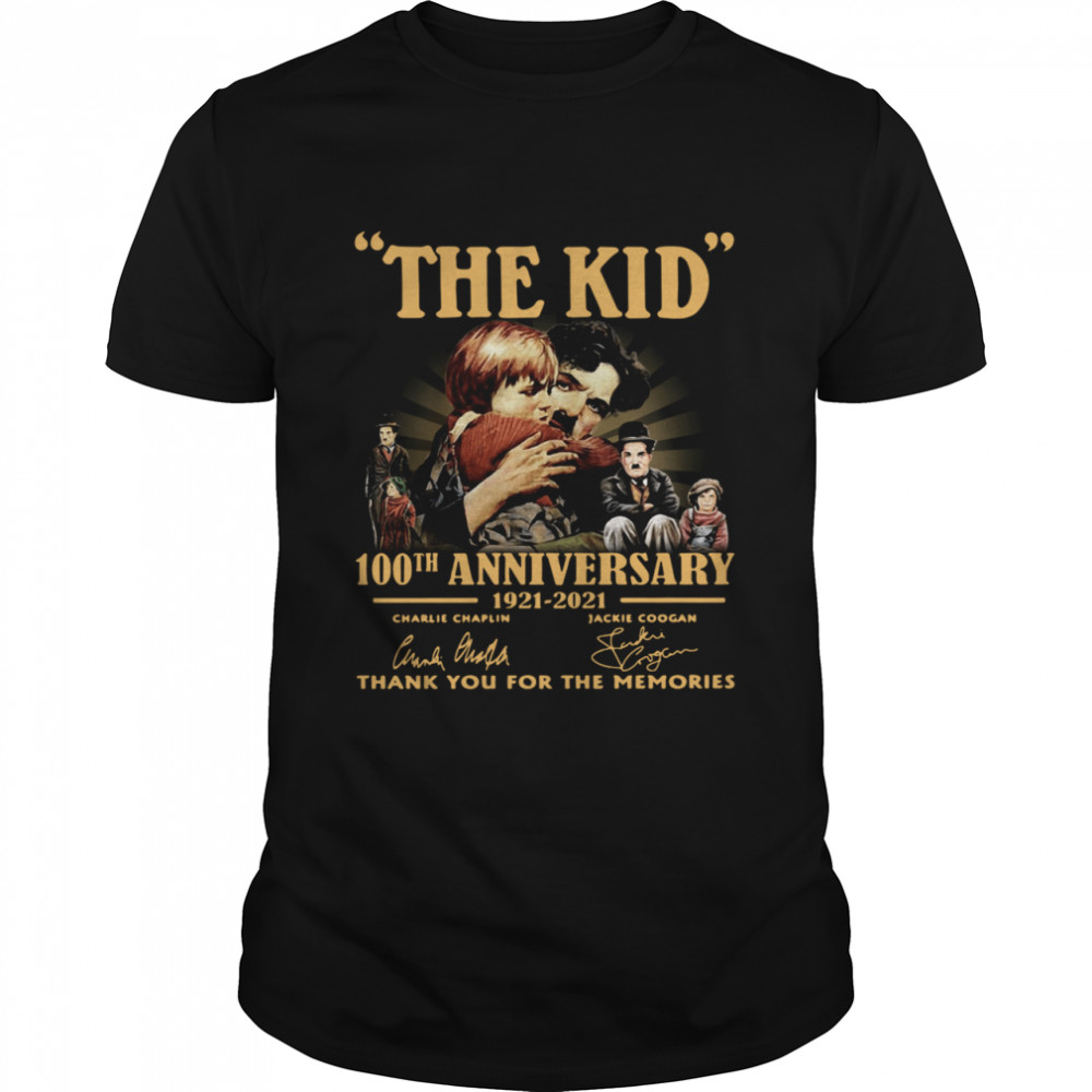 The Kid 100th anniversary 1921 2021 signatures thank you for the memories shirt Classic Men's T-shirt