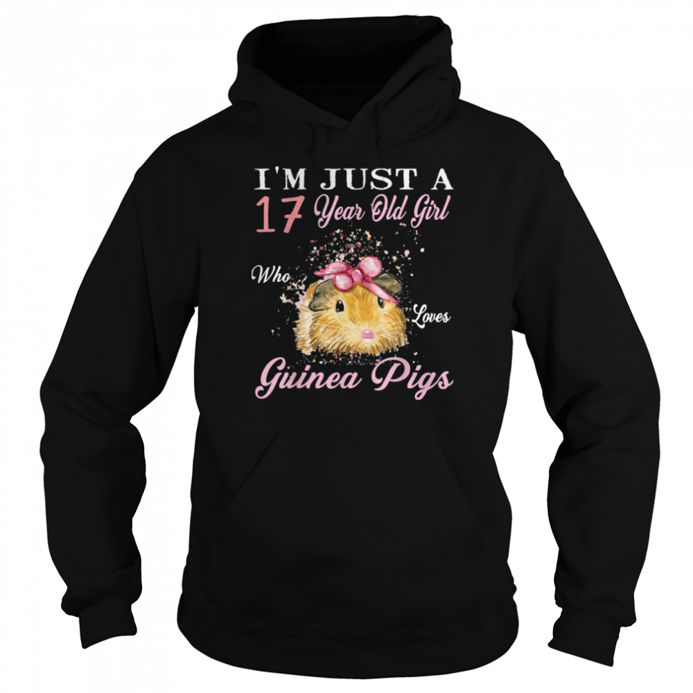 I'm Just A 17 Year Old Girl Who Loves Guinea Pigs Birthday shirt Unisex Hoodie