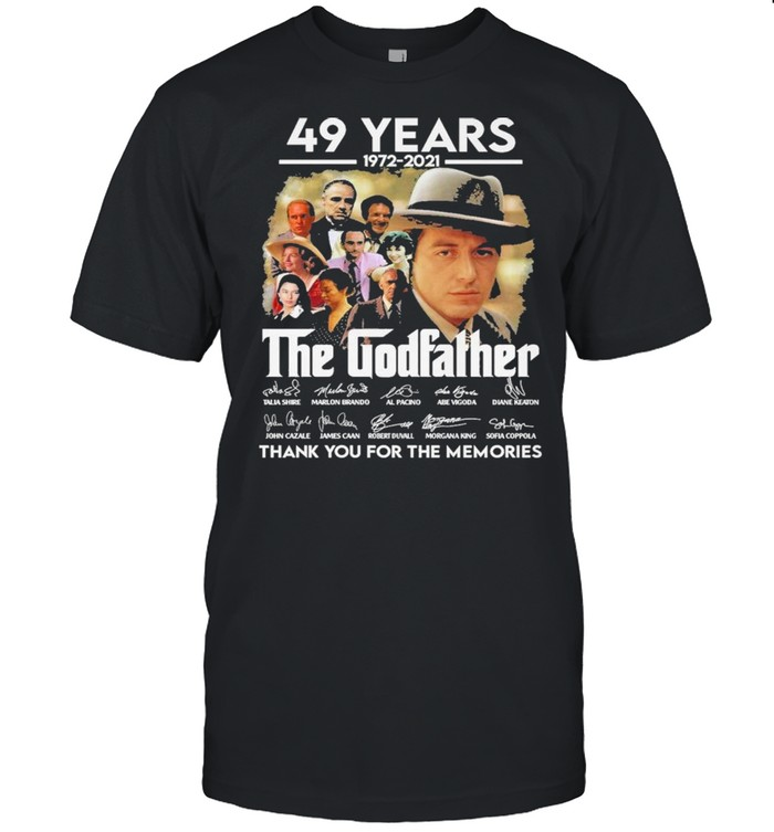 49 years 1972 2021 The Godfather signatures thank you for the memories shirt Classic Men's T-shirt
