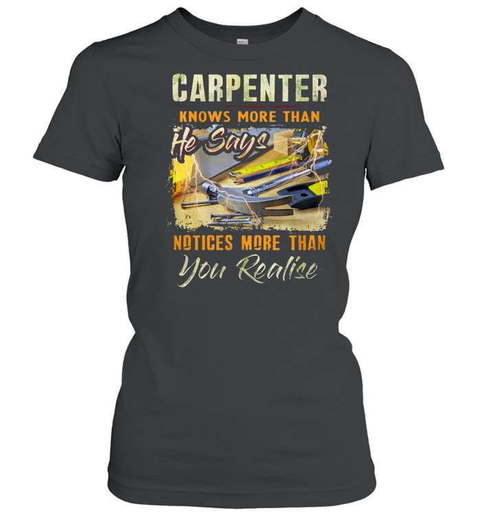 Carpenter Knows More Than He Says Notices More Than You Realise T-shirt Classic Women's T-shirt