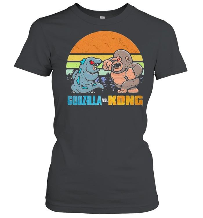 Chibi Godzilla Vs Kong Movie 2021 Vintage Retro shirt Classic Women's T-shirt