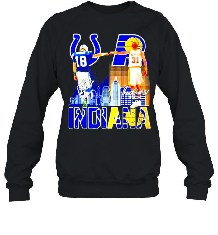Indiana Reginald Wayne Miller And Peyton Manning Signature  Unisex Sweatshirt