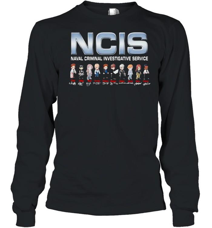 NCIS Naval Crimal Investigative Service Signature  Long Sleeved T-shirt