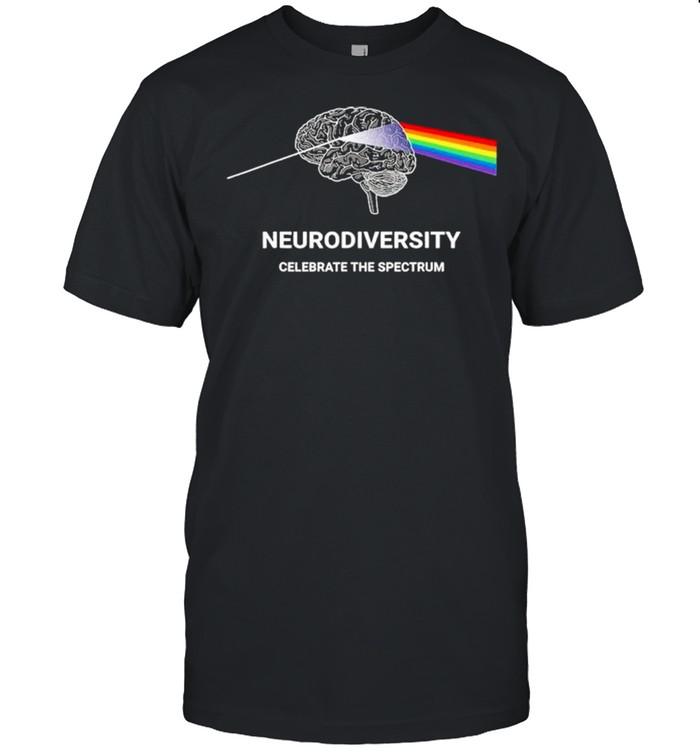Neurodiversity Autism Spectrum ASD ADHD Rainbow Brain shirt Classic Men's T-shirt